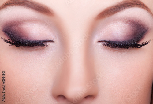 Close up portrait professional make up