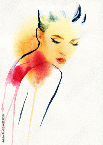 abstract  woman portrait - 62954311