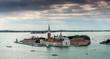 Vue aérienne de l'ile de San Giorgio, Venise