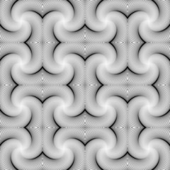 Design seamless swirl movement strip pattern. Abstract monochrom