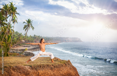 Yoga near the ocean