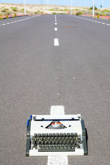 On the Road Writing Concept