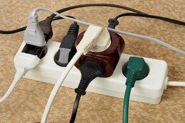 Overloaded extension cord