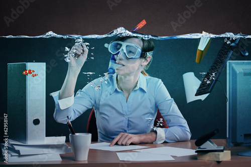 drowning in job