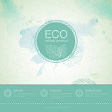 Fototapety Ecology background. web and mobile interface template