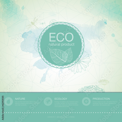 Ecology background. web and mobile interface template