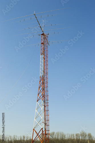 Amateur Yagi radio antenna