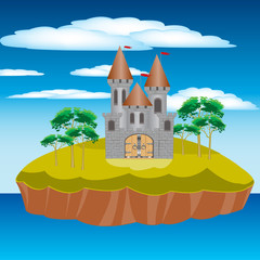 Fortress on island