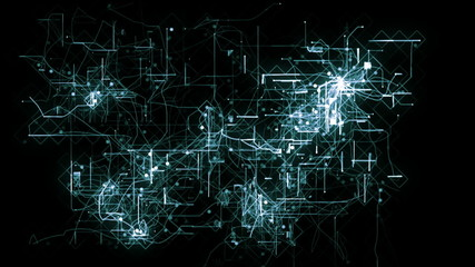 Abstract animated background of a network concept.
