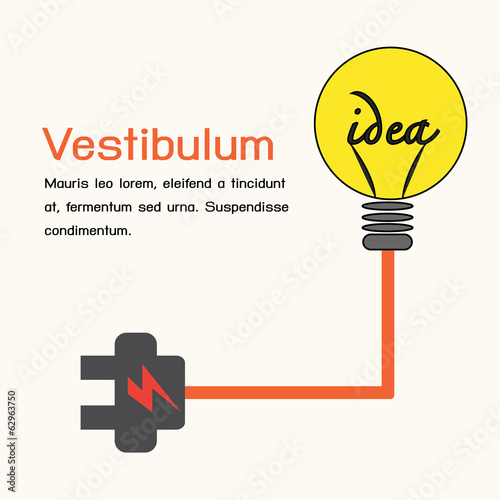 Creative light bulb,idea concept.
