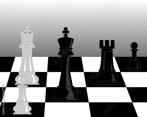 black and white pieces of chess