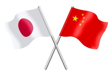 Flags: Japan and China