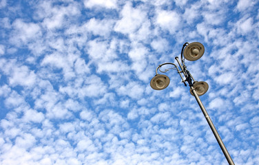 Street lamp against sky