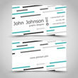 business card with small turquoise stripes
