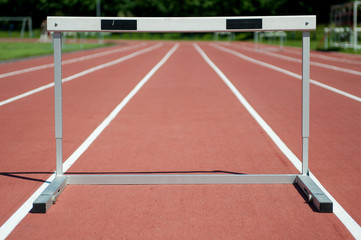 Hurdle on the stadium