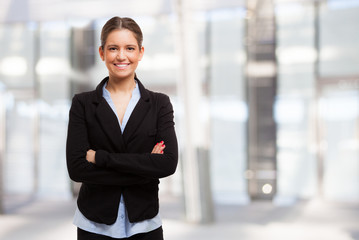 Young business woman portrait