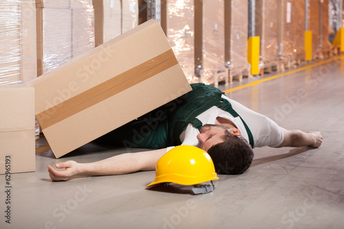 Accident in warehouse