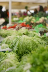 Fresh bio and organic vegetables on farmers market