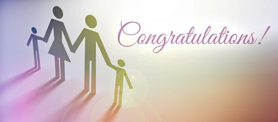 Congratulations sign family concept illustration