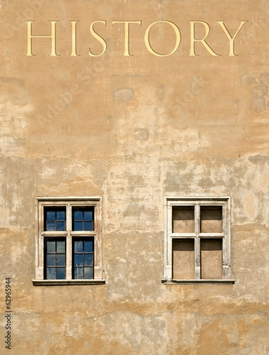 History antique building wall background