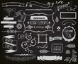 Chalkboard Design Elements and Etchings - 62966110