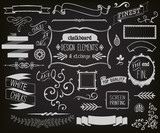 Chalkboard Design Elements and Etchings poster