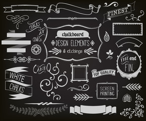 Chalkboard Design Elements and Etchings