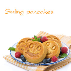 corn pancake with berries