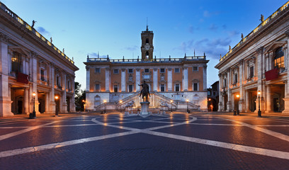 Rome Capitoline Square Cobbles Rise