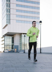 man jogging outdoor city