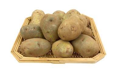 Russet Potatoes In Basket