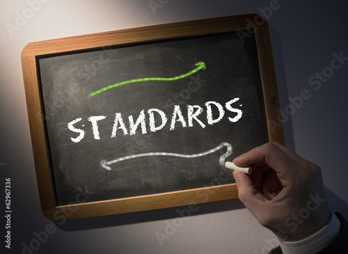 Hand writing Standards on chalkboard