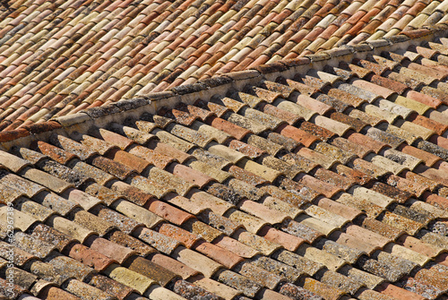 old tile roofs