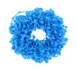 Turquoise Frilly Hair Holder