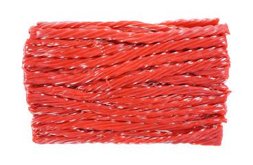 Twisted Cherry Licorice Sticks Top View