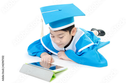 Asian Child with tablet computer