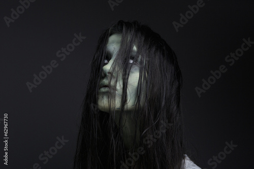 Portrait of a female zombie