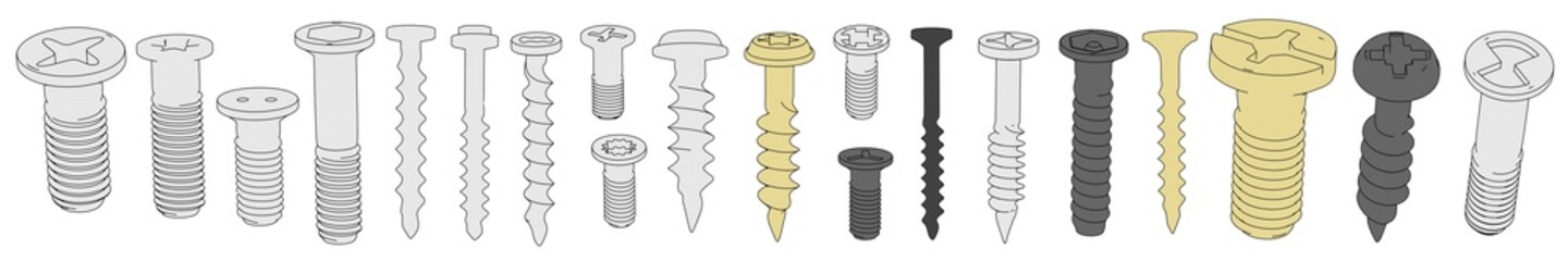 cartooon image of classic screws