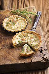 Quiche with Tuna and Herbs