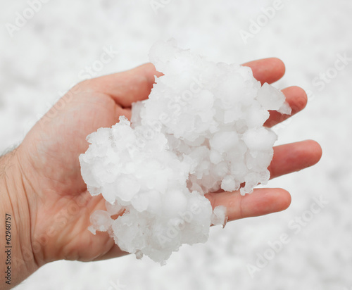 Hailstorm in the hand