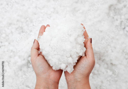 Hailstorm in the hands