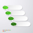 green progress paper banners with speech bubble / infographics t