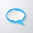 Speech Bubble with Clouds background