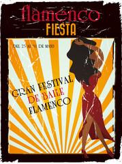 vintage flamenco poster