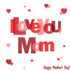 """HAPPY MOTHER'S DAY"" Letter Collage (card I love you)"