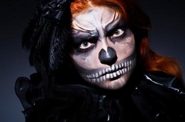 Scary monster in dark room