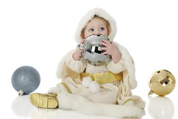 Snow Princess with Christmas Bulbs