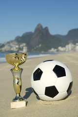 Brazil Soccer Champion Trophy Football Rio Beach