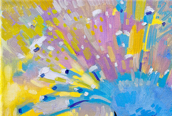 Abstract color background  - original oil painting on canvas