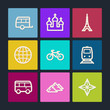 Travel  web icons set 2, color buttons